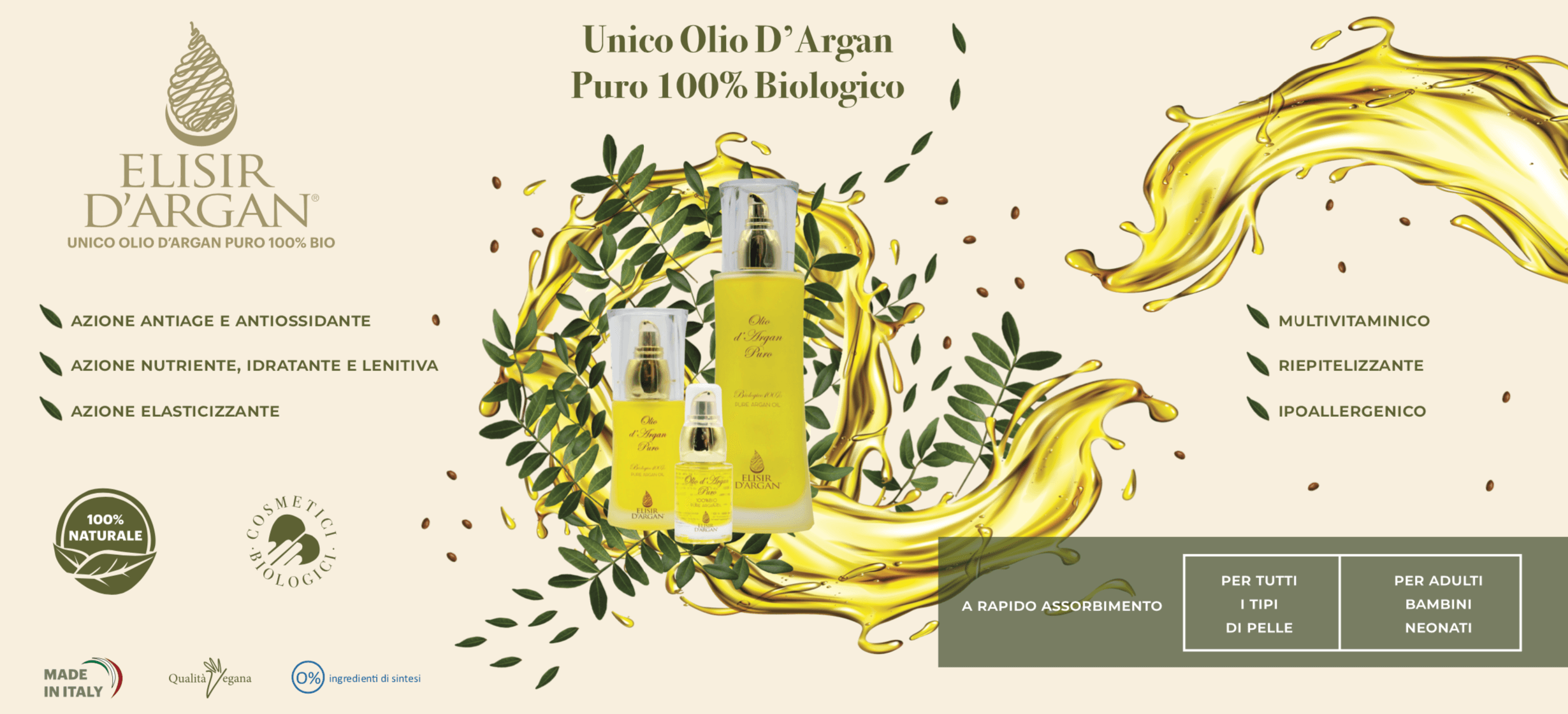 Prodotti di bellezza olio d'argan | Elisirdargan.com